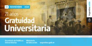 22 de noviembre, Día de la Gratuidad de la Enseñanza Universitaria