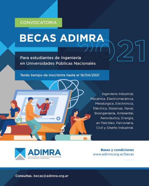 Becas para estudiantes de ingeniería desde ADIMRA