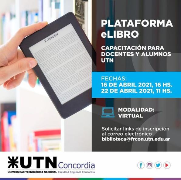 Sumate a la segunda capacitación sobre la Plataforma E-Libro